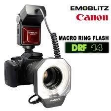 EMOBLITZ DRF14C Macro Ring Flash Autofocus Digital Flashgun Speedlite for Canon Camera
