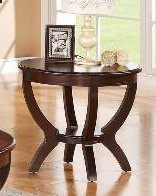 Cheap Brownstown Round End Table in Brown by Crown Mark (4517-02)