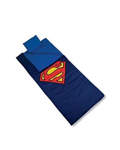 Wildkin Kids' Superman Shield Sleeping Bag, Blue