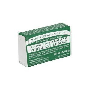 Dr Bronner Bar Soap Organic Almond 5 oz ( Multi-Pack)