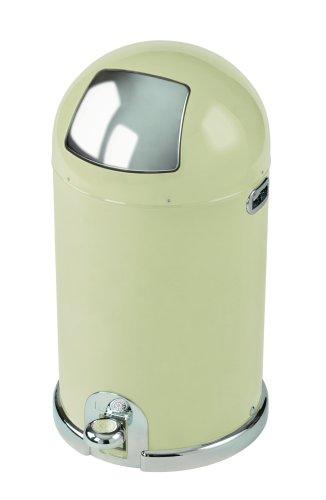 Typhoon Capsule Gloss Cream Steel Body 40ltr Kitchen Bin