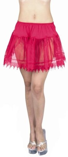 Red Sexy Adult Petticoat Slip Skirt Womens Plus Size