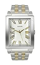 Guess U11049G1 Watch Dress Mens - White Dial Stainless Steel Case Quartz Movement