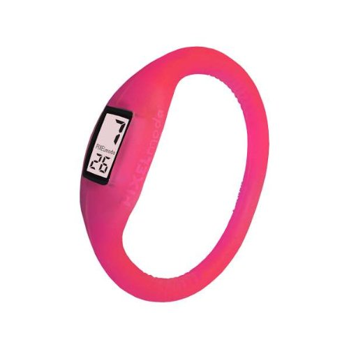 Pixelmoda Digital RASBERRY Color Water Resistant Italian Style Unisex Silicone Watch – MEDIUM 16 CM