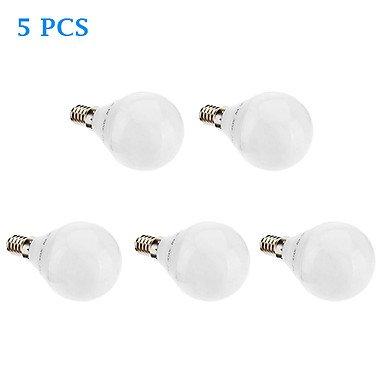 5-Pack E14 G45 6W 32X3022Smd 480Lm 2700K Cri>80 Warm White Light Led Globe Bulb (220-240V)