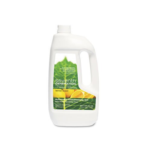 Seventh Generation : Automatic Dishwasher Detergent, Gel, 45 Oz, Lemon Scent, Each -:- Sold As 2 Packs Of - 1 - / - Total Of 2 Each