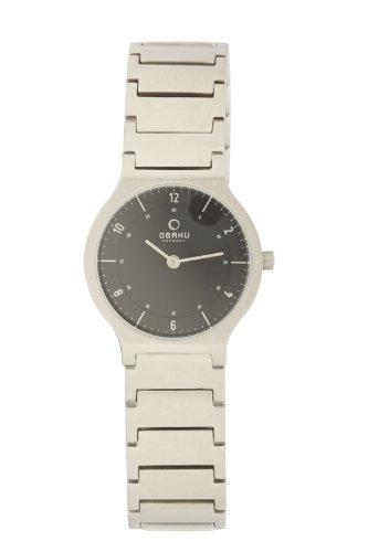 Obaku Women's V133LCBSC  Black Dial Stainless Steel Watch