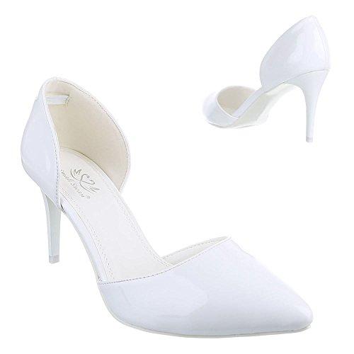 Ital-Design - Scarpe con Tacco Donna , Bianco (bianco), 40