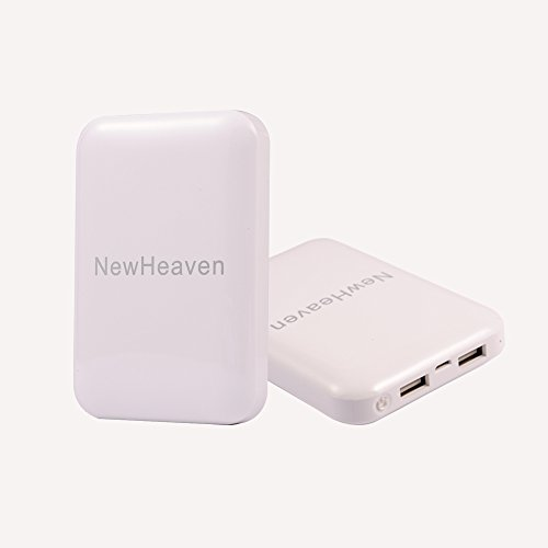 Newheaven Portable Charger Element 8000Mah Power Bank Charger External Battery Charger Pack (Dual Usb Outputs, Ultra Compact Design), For Iphone 5, 5S, 5C, 4S, 4, Ipad Air, 4, 3, 2, Mini 2 (Apple Adapters Not Included); Samsung Galaxy S5, S4, S3, S2, Note