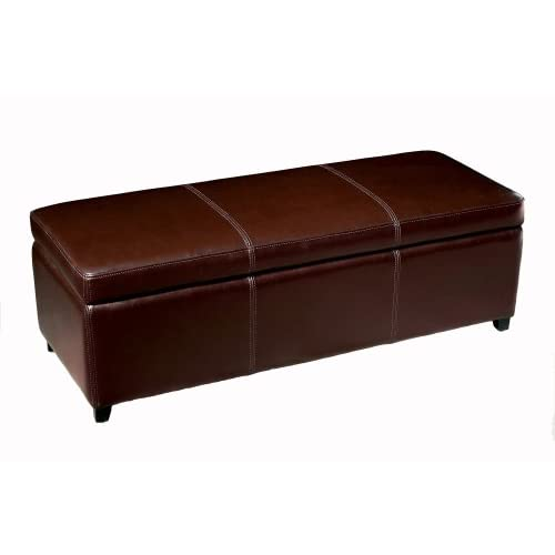 Baxton Studio Furniture Enrica Leather Storage Bench