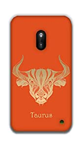 The Racoon Lean Taurus hard plastic printed back case / cover for Nokia Lumia 620