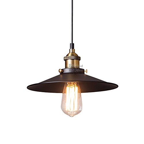B2ocled Pendant Lighting ,Black ,White, Edison Light Bulb American Village Lamps Hanging,1 light (B style, 11.81in) (Hanging Lamps Plug In compare prices)
