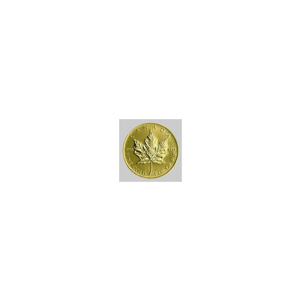 1997 1 OZ CANADA MAPLE LEAF , MINT .9999 FINE GOLD