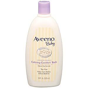 Aveeno Baby Calming Comfort Bath, Lavender & Vanilla, 18-Fluid Ounce Bottle