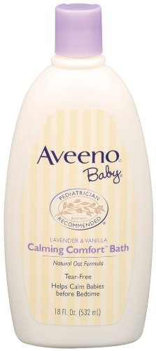 Aveeno Baby Calming Comfort Bath, Lavender & Vanilla, 18-Fluid Ounces Bottles (Pack Of 3)