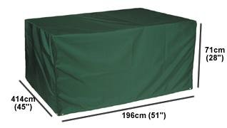 "Weathertex / Garden Furniture Cover / 8 Seat Rectangular Set Cover / 196cm (77"") X 114cm (45"") X 71cm (28"") (l X W X H) Picture"