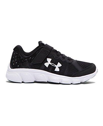 Under Armour Boy's Under Armour Boys' Assert 6 AC Running Shoes Shoe, black/White, 2 Medium US Toddler (Under Armour Assert Ii compare prices)