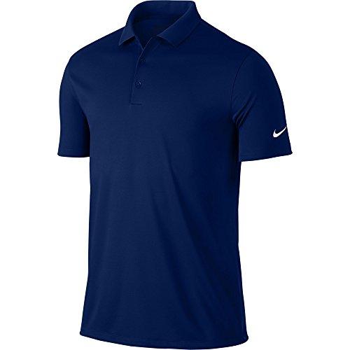 Nike Victory Solid-Polo da uomo, UOMO, Azul Oscuro / Gris / Blanco, L