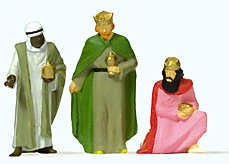 The Three Wise Men (2 Standing/1 Kneeling) HO Preiser Models - 1