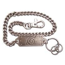 Naruto Hidden Leaf Badge Metal Keychain