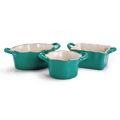 Blue Ceramic Ramekins - 3 Asst.