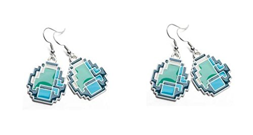 Official Licensed Minecraft Diamond Earring x 2 Pairs