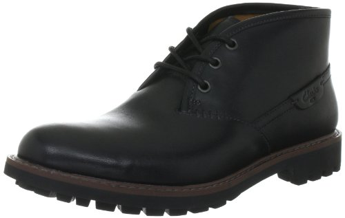 Clarks Mens Montacute Duke Black Leather 11 UK