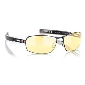 Gunnar Optiks PHA-00101 MLG Phantom Full Rim Advanced Video Gaming Glasses with Headset Compatibility and Amber Lens Tint, Gloss Onyx Frame Finish