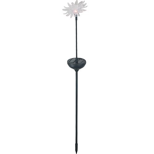Royce Lighting RL1213S-09 Solar Sunflower Stake 4 Piece Set with Multi Color Changing LED Lights Set in Black Finish