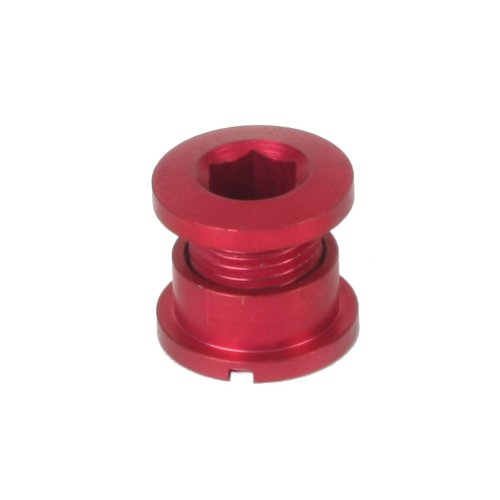 Origin8 Bicycle Single Chainring Bolts - Red Alloy Set of 5