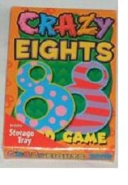 Crazy Eights Card Game with Storage Tray by Classic Games - 1