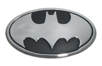 Batman 3D Chrome Metal Auto Emblem, Official Licensed (Car Emblem Chrome compare prices)