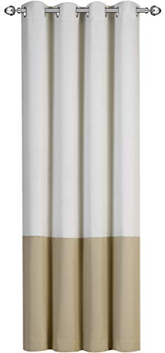 Utopia Bedding Pack of 20 Printed Blackout Room Darkening Grommet Curtain - Window Panel Drapes - 2 Colors (Beige, Taupe) - 1 Panel - 52 Inches Wide 84 Inches Long - Decorative Curtains