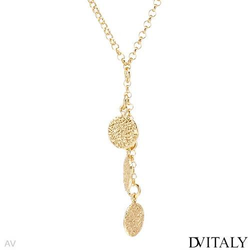 DV ITALY Gold Plated Silver Ladies Necklace. Length 17 in. Total Item weight 9.1 g.