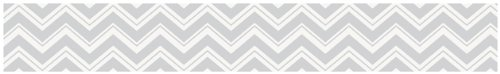 Baby and Kids Modern Wall Border for Turquoise and Gray Chevron Zig Zag Bedding by Sweet Jojo Designs - 1