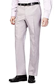 Collezione Luxury Active Waistband Easycare Flat Front Trousers with Silk