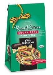 Russell Stover Sugar Free Candy Miniatures, Solid Dark Chocolate, 6 Oz
