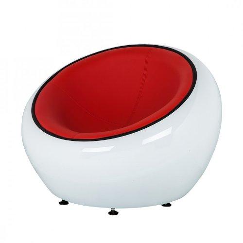 NEU* Loungesessel Kunststoff Weiß Kunstleder Rot Cocktailsessel Clubsessel Bar Sessel Home24