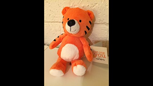 Carters Just One You Tiger Plush Rattle Baby Toy - 1