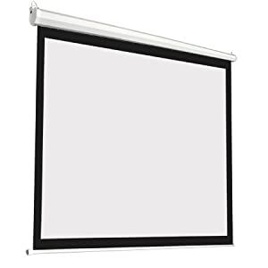 Manual Pull Down White 84x84 In. Projection Screen Wall Ceiling Mount 119