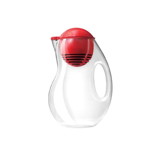 Move Collective LLC Acqua Bobble-Caraffa con filtro, 2L, in plastica, rosso,