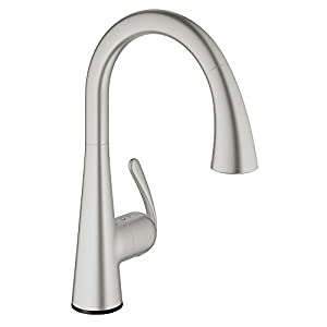 Grohe 30205dc0 ladylux caf touch pull down spray head kitchen faucet - Grohe kitchen faucets amazon ...