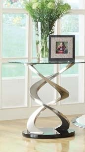 Cheap 23″H Nia Contemporary Chrome End Table (AC-80032)