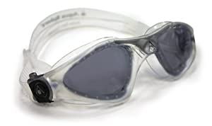 Aqua Sphere Kayenne Goggle With Smoke Lens, Clear/Silver, Regular