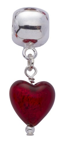 Genuine Murano Glass Charm Bead  with Sterling Silver Fittings.
