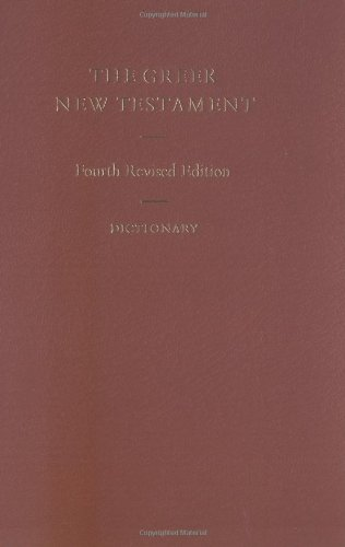 The Greek New Testament (Includes  Dictionary) (Greek and...