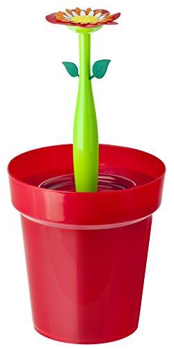 VIGAR-Flower-Power-Pattumiera-Per-Bagno-Rosso-Verde
