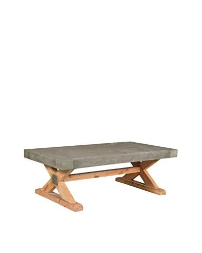 CDI Furniture Concrete Coffee Table, Brown/Grey