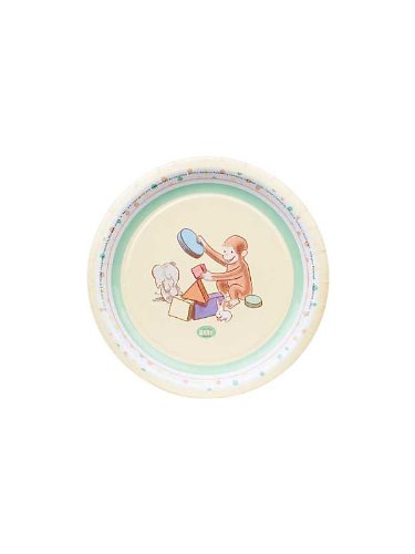 Curious George Baby Party Supplies Dessert Plates - 8 Each