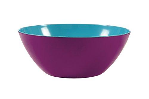 French Bull Melamine 2-Tone Bowl, Large, Grape/Turquoise